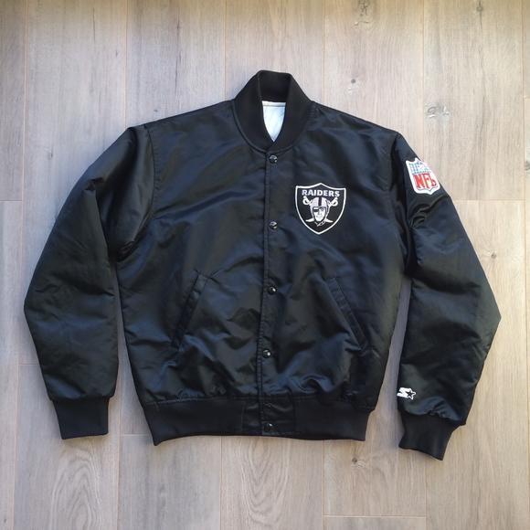 brand new 587a2 c0f59 80's 90's Los Angeles Raiders Starter Satin Jacket